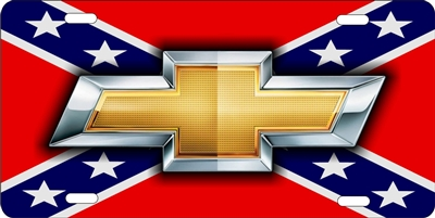 Personalized Front License Plates >> Chevrolet bowtie on confederate flag personalized novelty ...