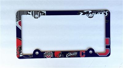 Cleveland Ohio Sport Teams License Plate Frame Decorative