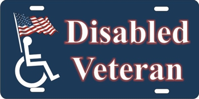 Disabled Veteran Personalized Novelty Front License Plate