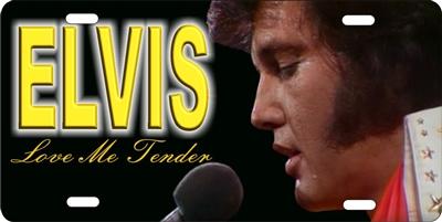 Elvis Love Me Tender Custom License Plates Personalized License Plates Decorative License