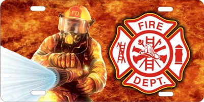 Maltese Cross Fire Fighter Fireman Fire Department Custom License Plates Personalized License