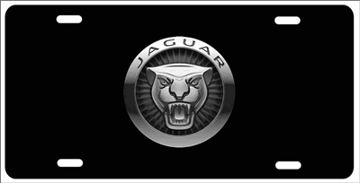 Jaguar Growler On Black Custom License Plates, Personalized License Plates,  Decorative License Plates,