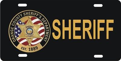 Personalized Novelty License Plate Orange County Sheriff