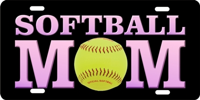 Personalized Novelty License Plate Softball Mom Custom