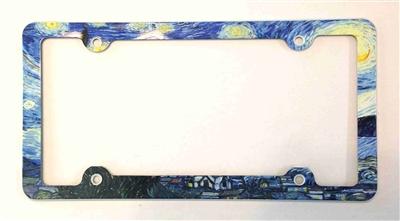 Van Gogh Starry Night License Plate Frame Decorative