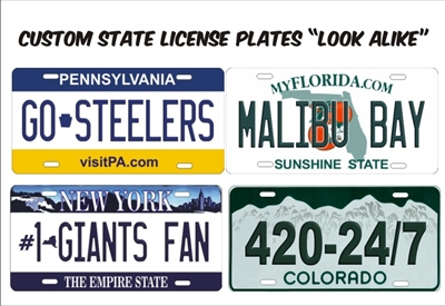 State Official License Plates Quot Look Alike Quot Custom License