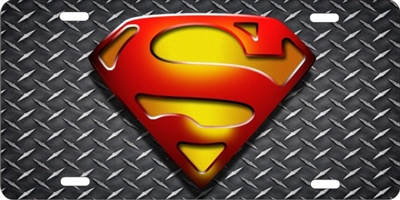 Personalized Novelty License Plate Superman Logo On