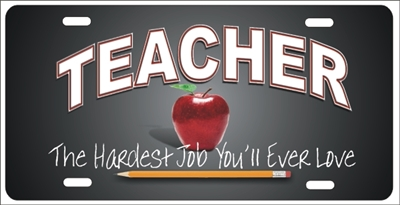 Personalized Novelty License Plate Teacher The Hardest Job
